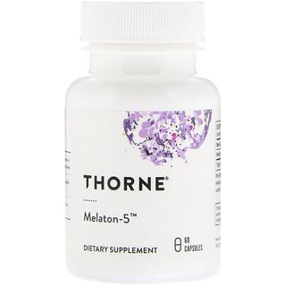 Thorne Research, Melaton-5, 60 cápsulas