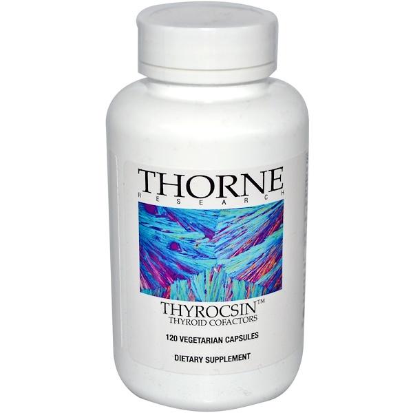 Thorne Research, Thyrocsin, Кофакторы щитовидной железы, 120 капсул в растительной оболочке