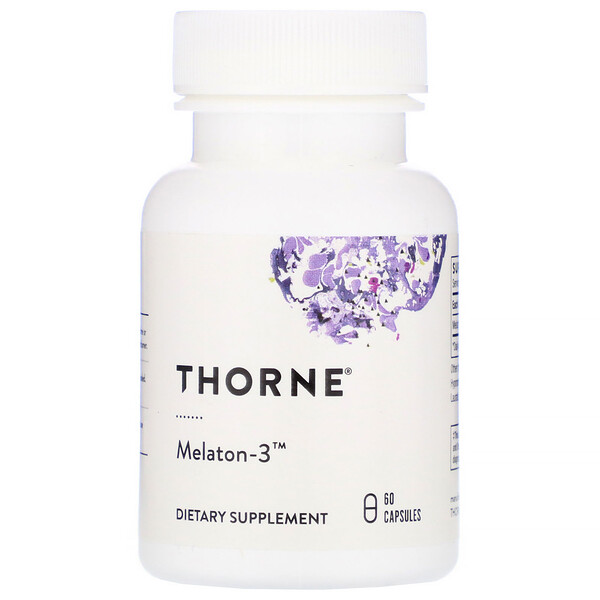 Thorne Research, Melaton-3, 60 Capsules