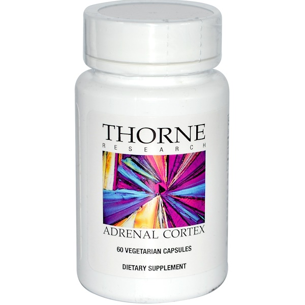 保健品牛產品:Thorne Research, 腎上腺皮質,60粒素食膠囊