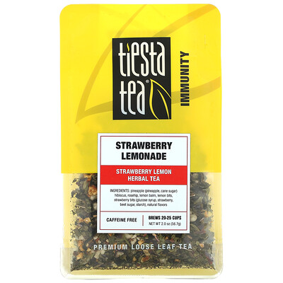 Купить Tiesta Tea Company Premium Loose Leaf Tea, Strawberry Lemonade, Caffeine Free, 2.0 oz (56.7 g)
