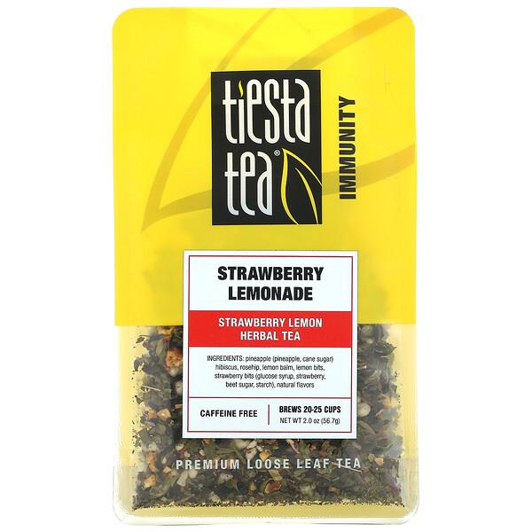 Premium Loose Leaf Tea, Strawberry Lemonade, Caffeine Free,  2.0 oz (56.7 g)