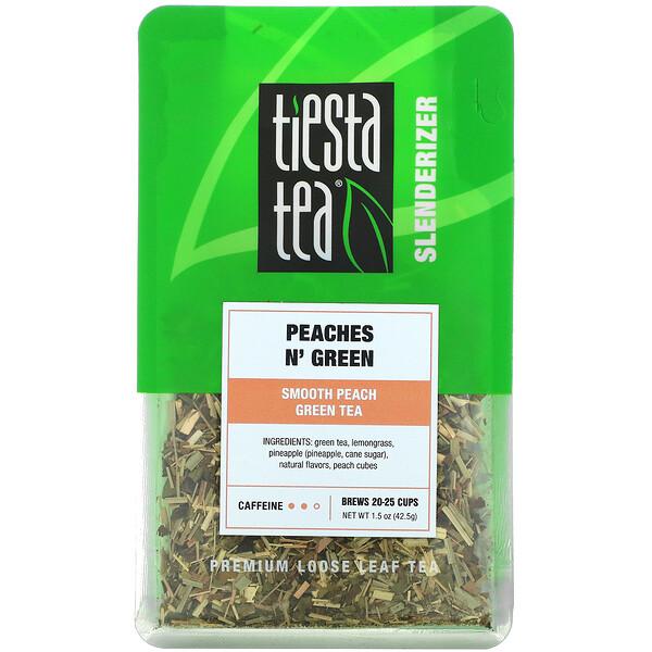 Premium Loose Leaf Tea, Peaches N' Green, 1.5 oz (42.5 g)