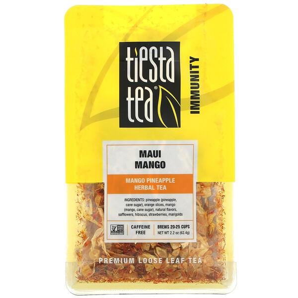 Premium Loose Leaf Tea, Maui Mango, Caffeine Free, 2.2 oz (62.4 g)
