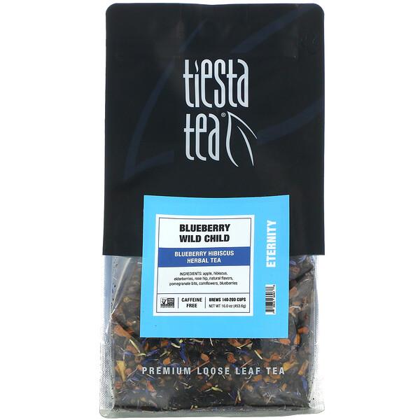 Premium Loose Leaf Tea, Blueberry Wild Child, Caffeine Free, 16.0 oz (453.6 g)
