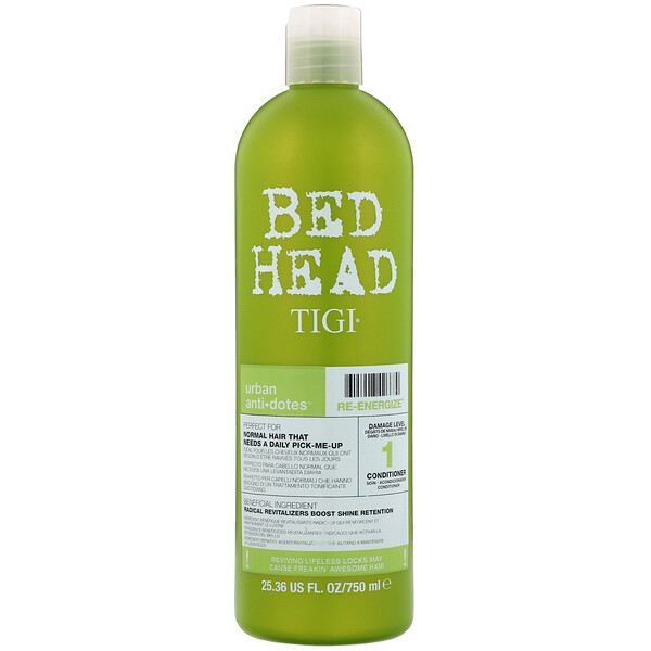 Bed Head, Urban Anti+dotes, Re-Energize, Damage Level 1 Conditioner, 25.36 fl oz (750 ml)