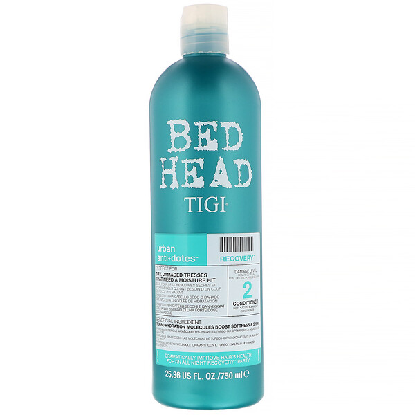 TIGI, Bed Head, Urban Anti+dotes, Recovery, Damage Level 2 Conditioner, 25.36 fl oz (750 ml) (Discontinued Item)