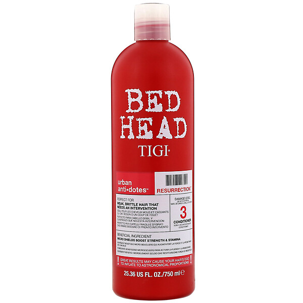 TIGI, Bed Head, Urban Anti+dotes, Resurrection, Damage Level 3 Conditioner, 25.36 fl oz (750 ml)