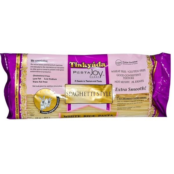 Tinkyada, معكرونة الأرز الأبيض، على شكل السباغيتي، 16 أوقية (454 غرام)