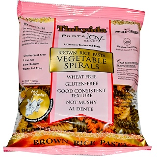 Tinkyada, Brown Rice Pasta, Vegetable Spirals, 12 oz (340 g)
