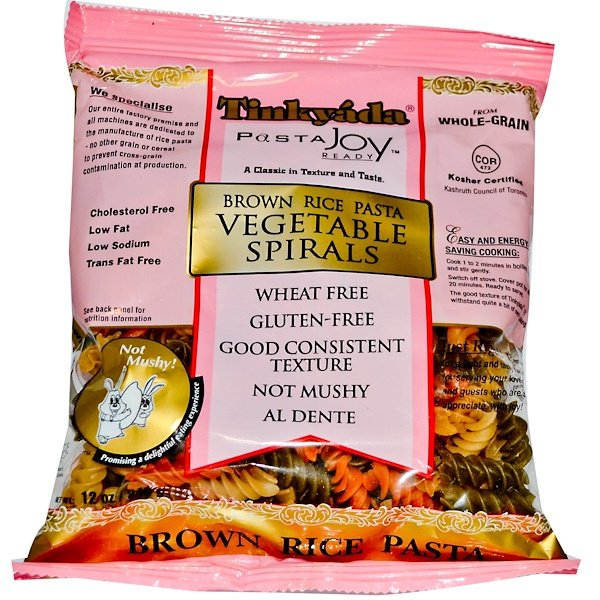 Tinkyada, Brown Rice Pasta, Vegetable Spirals, 12 oz (340 g) (Discontinued Item)