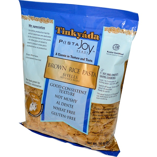 Tinkyada, Pasta Joy Ready, Brown Rice Pasta Shells, 16 oz (454 g) (Discontinued Item)