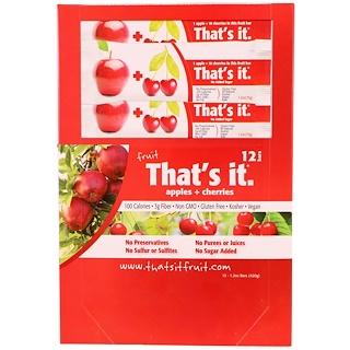 That's It, Fruit Bars, Apples + Cherries, 12 Bars, 1.2 oz (420 g) Each