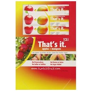 That's It, Фруктовые батончики, яблоки + манго, 12 батончиков, 1,2 унции (420 г) каждый