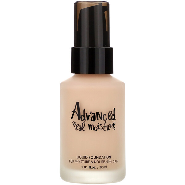 Advanced Real Moisture, Liquid Foundation, SPF 30 PA++, #21 Nude Beige, 1.01 fl oz (30 ml)