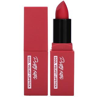 Touch in Sol, Pretty Filter, Soul Velvet Lipstick, Seoul Rose, 0.12 oz (3.5 g)