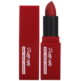 Touch in Sol, Pretty Filter, Soul Velvet Lipstick, Havana Red, 0.12 oz (3.5 g)