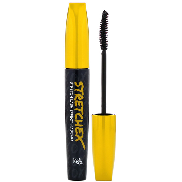 Touch in Sol, Stretchex, Stretch Lash Effect Mascara, Black, 0.24 oz (7 g)