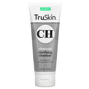TruSkin, Charcoal Clarifying Cleanser, 4 fl oz (118 ml)