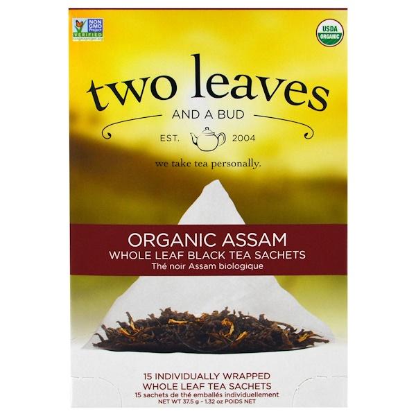 Two Leaves and a Bud, Органический Ассам, чай Original Breakfast, 15 пакетиков, 1,3 унции (37,5 г) (Discontinued Item)