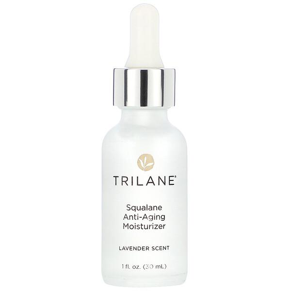 Trilane, Squalane Anti-Aging Moisturizer, Lavender Scent, 1 fl oz (30 ml) (Discontinued Item)