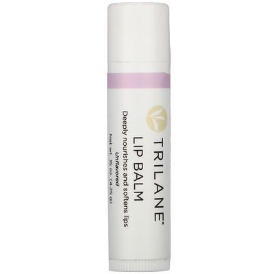 Купить Trilane Lip Balm, Unflavored, .15 oz (4.25 g)