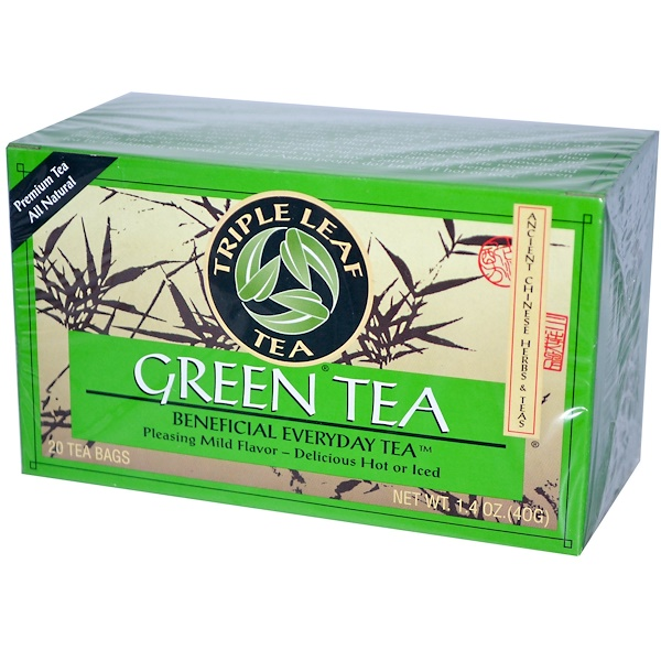 Triple Leaf Tea, Green Tea, 20 Tea Bags, 1.4 oz (40 g) (Discontinued Item)