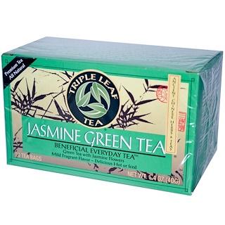 Triple Leaf Tea, Jasmine Green Tea, 20 Tea Bags,1.4 oz (40 g)