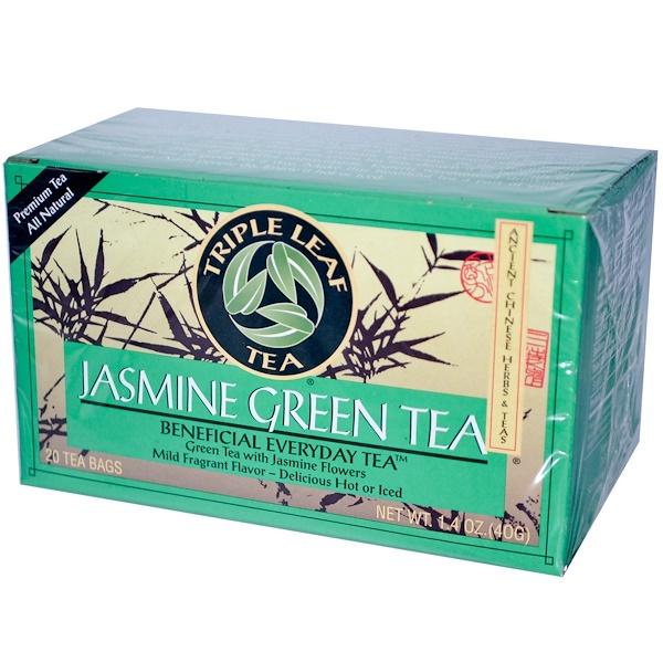 Triple Leaf Tea, Jasmine Green Tea, 20 Tea Bags,1.4 oz (40 g) (Discontinued Item)