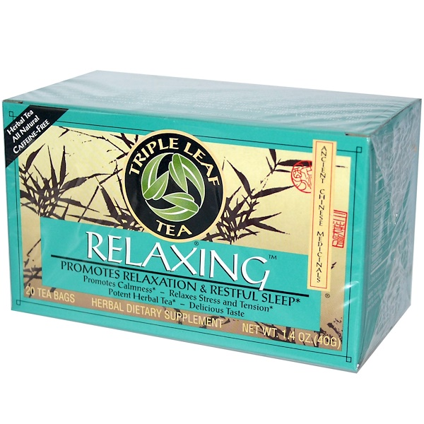 Triple Leaf Tea, Relaxing, 20 Tea Bags, 1.4 oz (40 g)