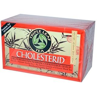 Triple Leaf Tea, Cholesterid, Chinese Black Tea, 20 Tea Bags, 1.4 oz (40 g)