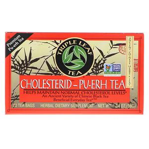 Трипл Лиф Ти, Cholesterid-Pu-erh, Chinese Black Tea, 20 Tea Bags, 1.34 oz (38 g) отзывы