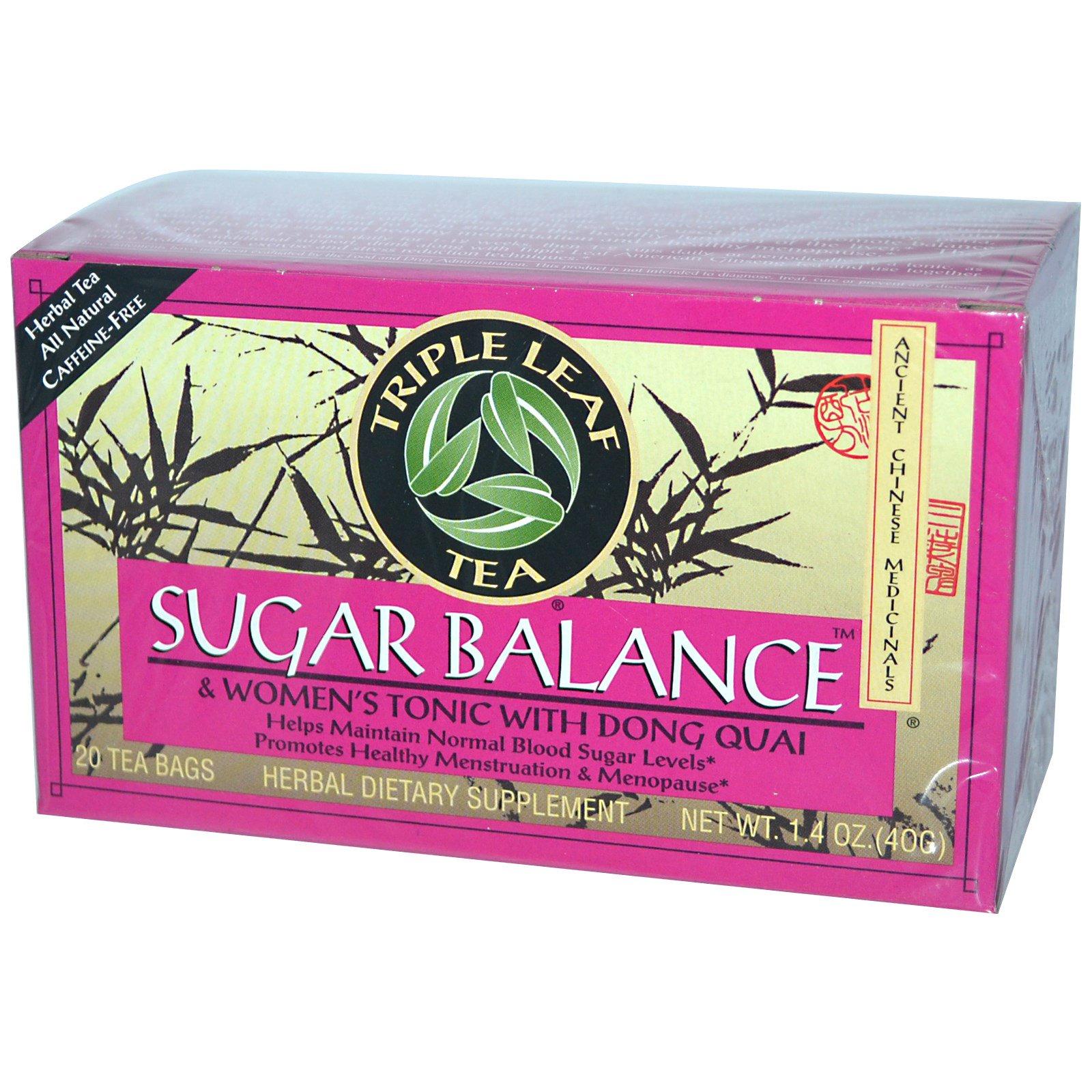 Triple Leaf Tea Sugar Balance Caffeine Free 20 Bags