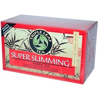 Triple Leaf Tea, Super Slimming, Caffeine-Free, 20 Tea Bags, 1.4 oz (40 g)
