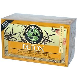 Triple Leaf Tea, Detox, 20 Tea Bags, 1.4 oz (40 g)