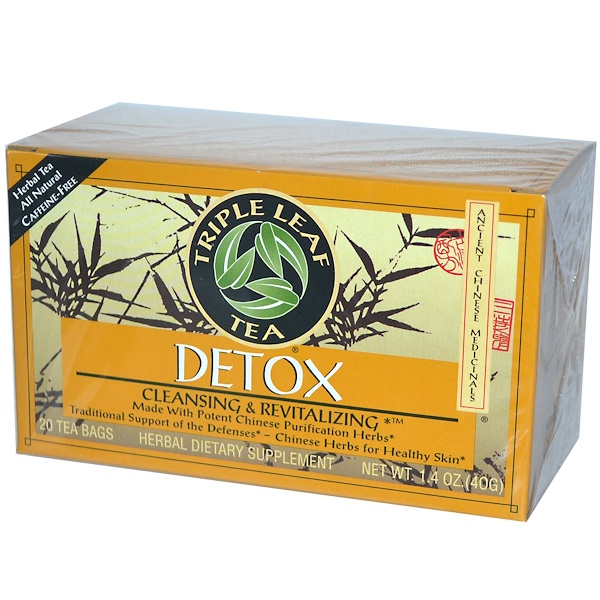Triple Leaf Tea, Detox, 20 Tea Bags, 1.4 oz (40 g)