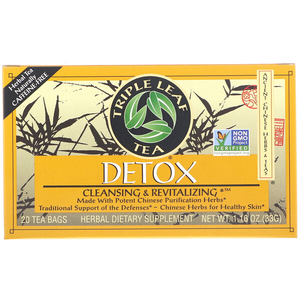 Triple Leaf Tea, Detox, 20 Tea Bags, 1.16 oz (33 g)