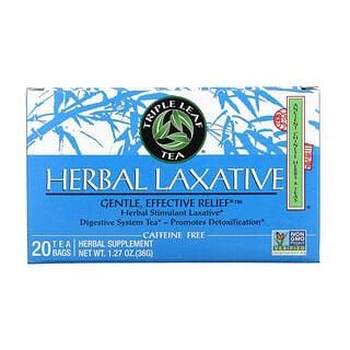 Triple Leaf Tea, Herbal Laxative, 20 Tea Bags, 1.27 oz (36 g)