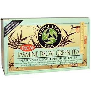 Трипл Лиф Ти, Jasmine Decaf Green Tea, 20 Tea Bags, 1.34 oz (28 g) отзывы