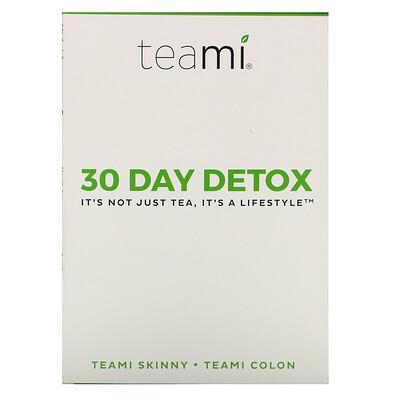 Купить Teami 30 Day Detox, Skinny Tea Blend + Colon Tea Blend, 1 Kit