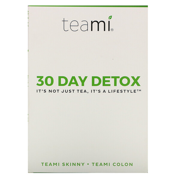30 Day Detox, Skinny Tea Blend + Colon Tea Blend, 1 Kit