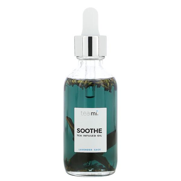 Soothe, Tea Infused Oil, Lavender Sage, 2 oz