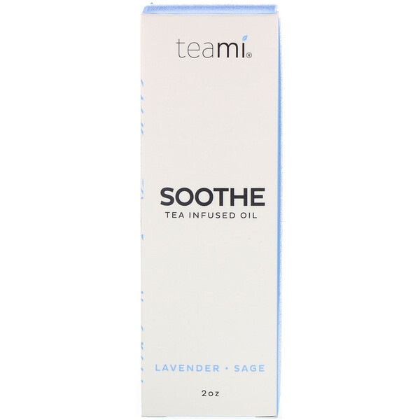 Teami, Soothe, Tea Infused Facial Oil, Lavender Sage, 2 oz