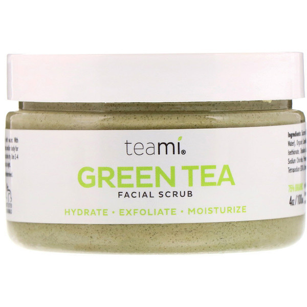 Teami, Green Tea Facial Scrub, 4 oz (100 ml)