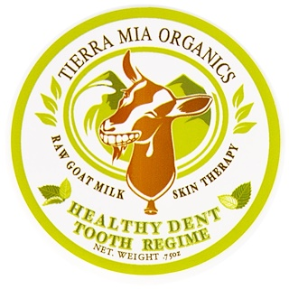 Tierra Mia Organics, Raw Goat Milk Skin Therapy, Healthy Dent Tooth Regime, .75 oz