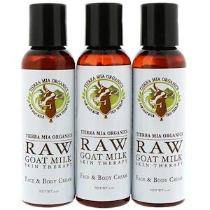 Тиерра Миа Орагникс, Raw Goat Milk Skin Therapy, Face & Body Cream, Lavender + Vanilla + Coconut, 3 Bottles, 2oz (56 g) each отзывы