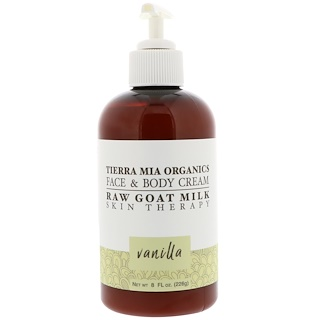 Tierra Mia Organics, Raw Goat Milk Skin Therapy, Face & Body Cream, Vanilla, 8 fl oz (226 g)