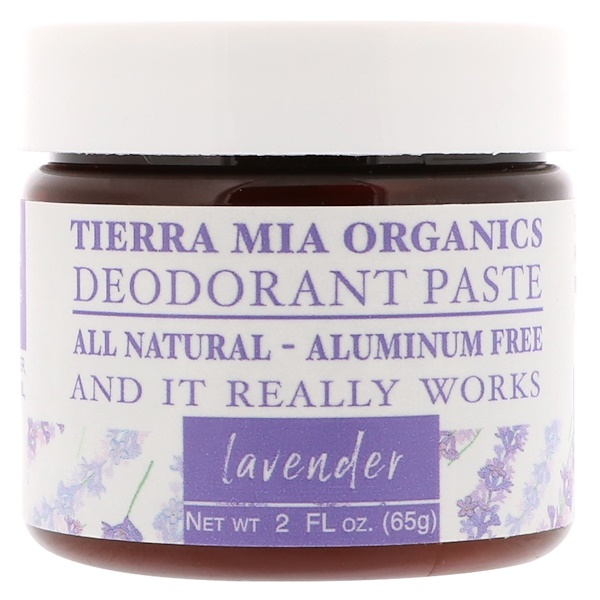 Tierra Mia Organics, Deodorant Paste, Lavender, 2 fl oz (65 g) (Discontinued Item)