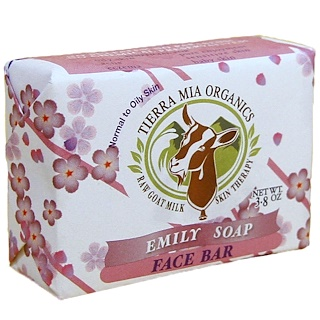 Tierra Mia Organics, Raw Goat Milk Skin Therapy, Face Bar, Emily Soap, 3.8 oz