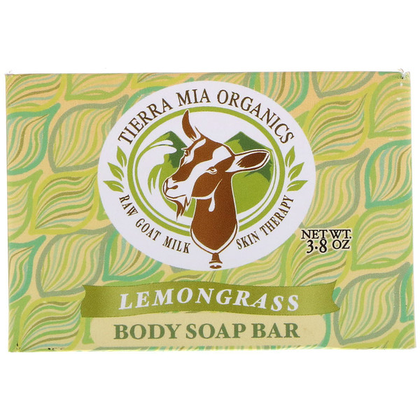 Tierra Mia Organics, Raw Goat Milk Skin Therapy, Body Soap Bar, Lemon Grass, 3.8 oz (Discontinued Item)
